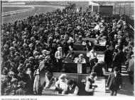 Betting enclosures, Dufferin Park. - [1910?]